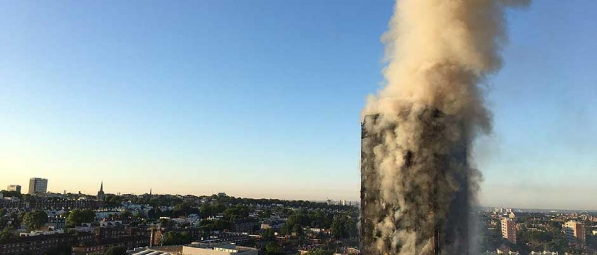 Massive fire engulfs Grenfell Tower