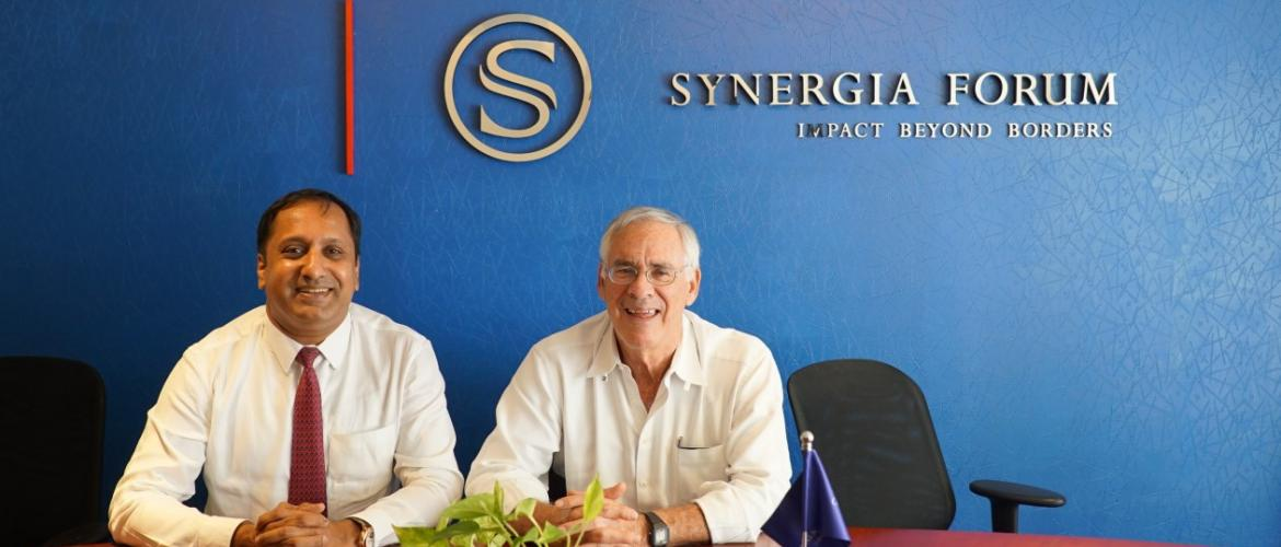 Dr. Richard Danzig visits Synergia