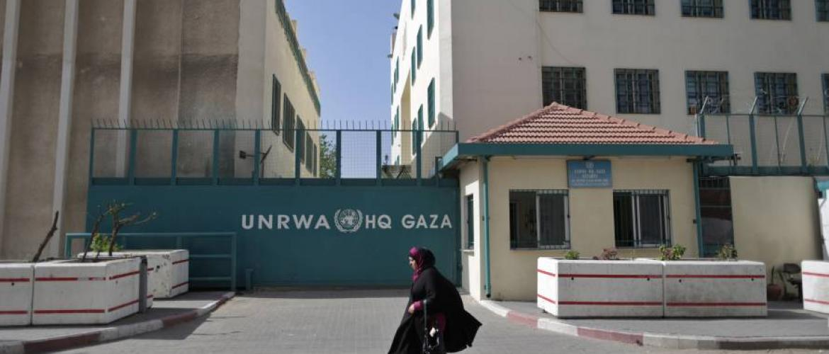 US aid to UNRWA stopped.