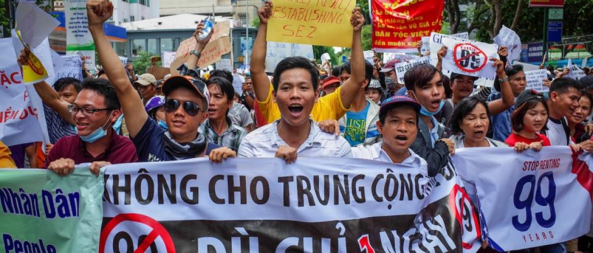 Anti-Chinese protesters take to Vietnam's streets