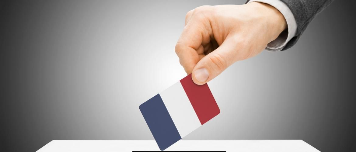 Outcomes of round one of the French elections