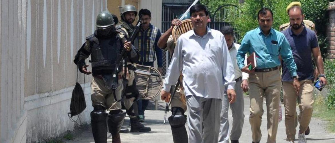 Raids in Kashmir