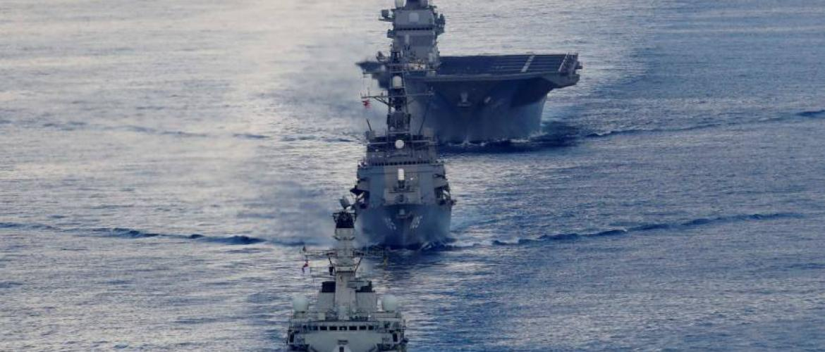 Japan conducts naval drill with British Warships